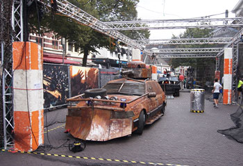 Zombie proof vehicle at GOGBOT 2016 Enschede